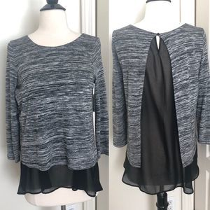 Abercrombie & Fitch marled fly away sheer back top